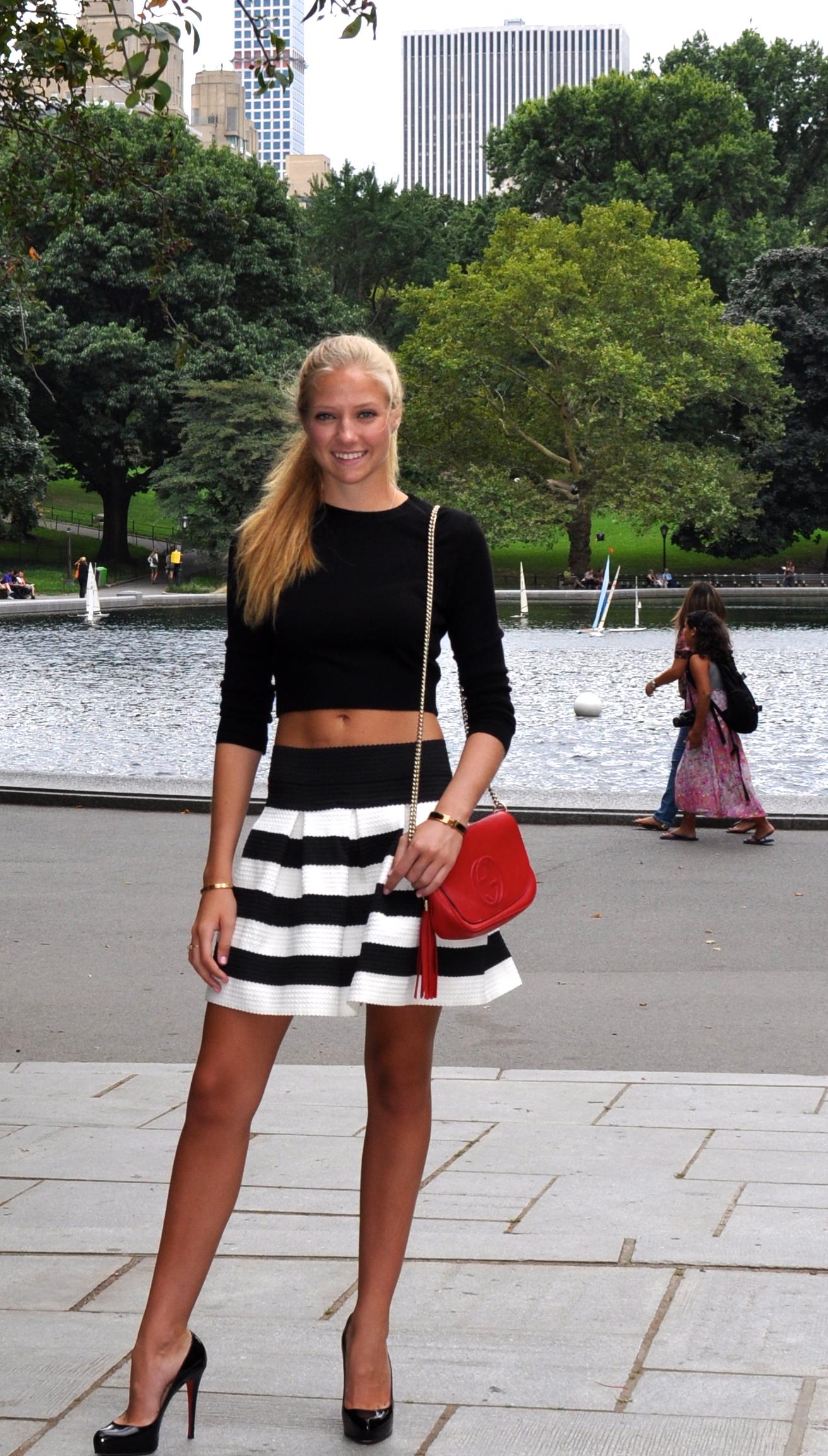 Top  American Apparel   Skirt  Aqua  Shoes  Christian Louboutin  Handbag   Gucci (Similar Here) b4c4b59c113